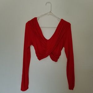Charlotte Russe Stretch Long Sleeve Crop